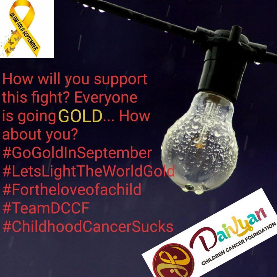 September 1st - Let's Light the world Gold together