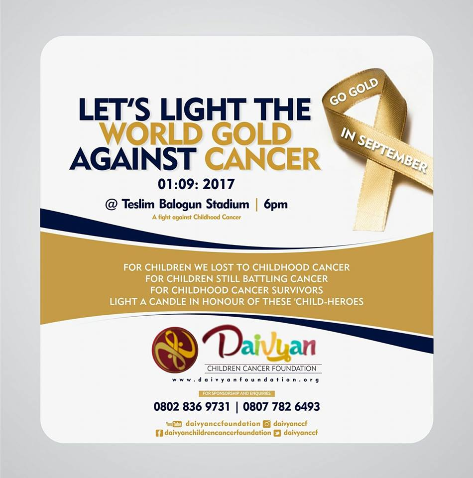 Let's Light the world Gold together, Let's start with Lagos