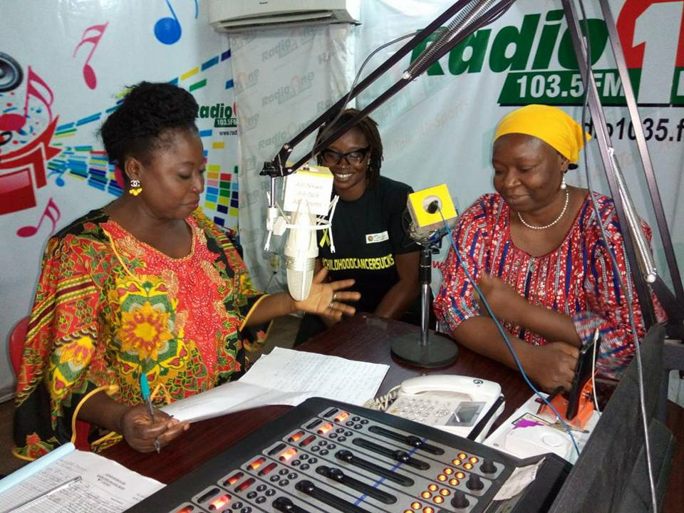 Creating awareness on Childhood Cancer at the Radio Nigeria 103.5fm